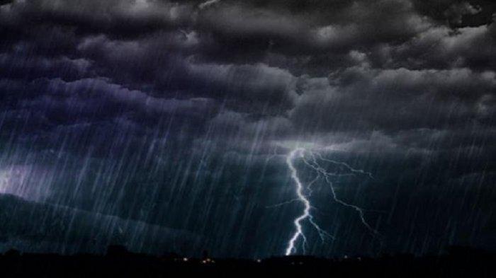 Peringatan Dini BMKG Hari Ini, Jumat27 Maret 2020, Waspada 16 Wilayah Hujan Petir dan Angin Kencang
