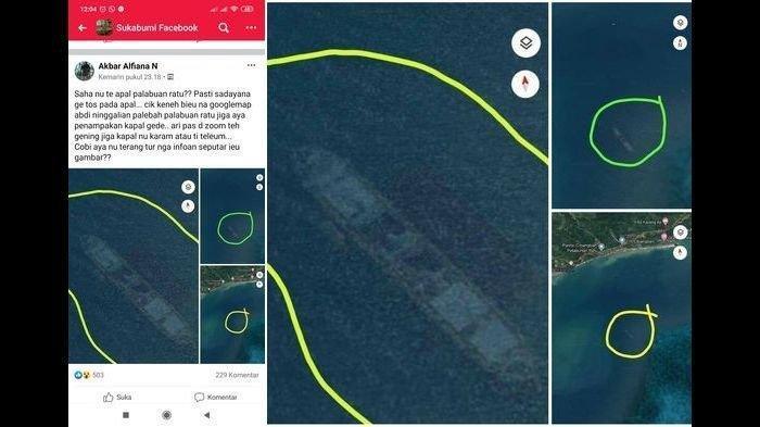 Kapal Bongkar Muat Misteri Kapal Karam Terekam Google Maps Nggak Karam Kepala UPP Palabuhanratu